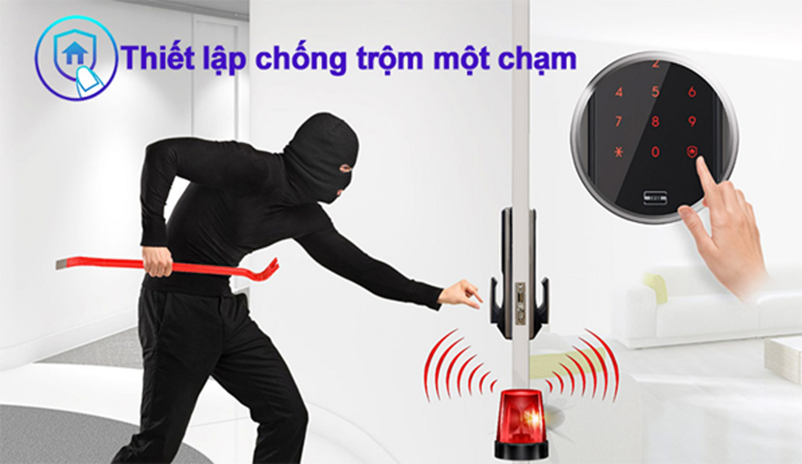 khóa vân tay samsung có thiết kế chống trộm