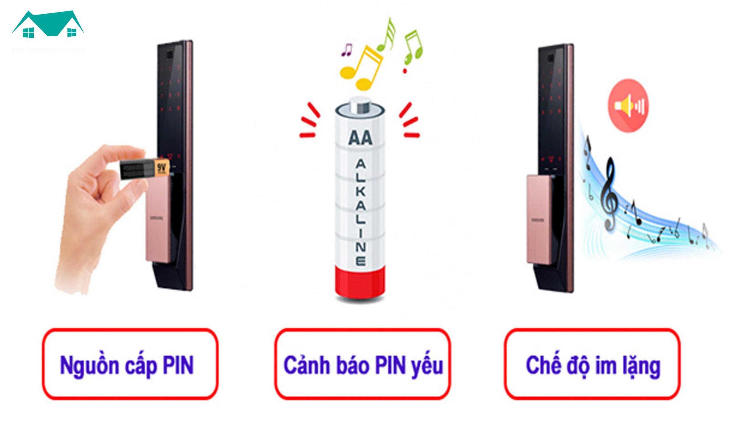pin khóa samsung