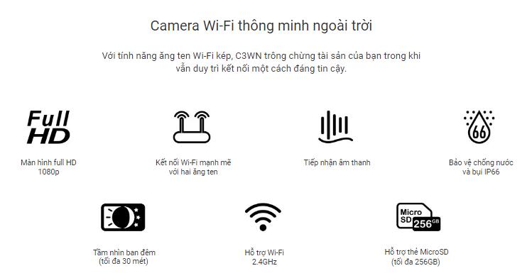 Camera Wifi Ezviz C3WN