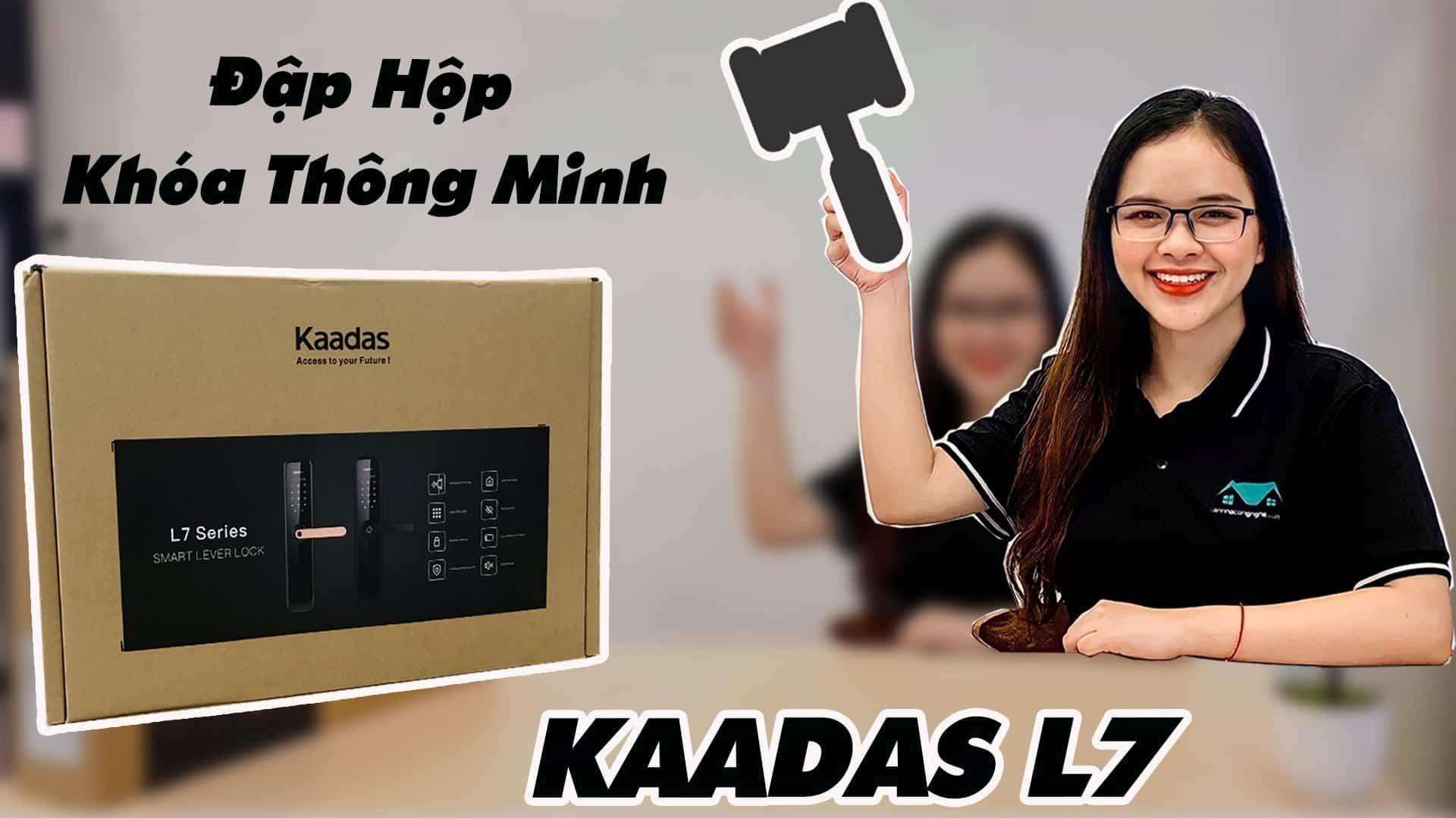 Đập hộp khóa vân tay Kaadas L7