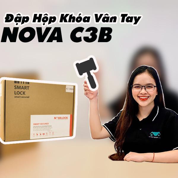 Đập hộp khóa vân tay NOVA C3B